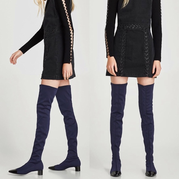 819abc5e76a ZARA CAP TOE OVER THE KNEE BOOTS